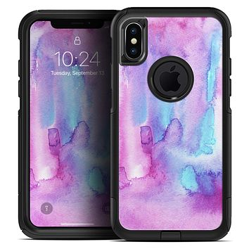 Blue and Pinkish Absorbed Watercolor Texture - Skin Kit for the iPhone OtterBox Cases