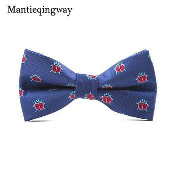Polyester Bow Ties For Men's Animals Floral Pattern Neck Tie For Wedding Tuxedo Bow Ties