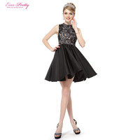 Cocktail Dresses HE05335 Sexy Sleeveless Black Lace Halter Short Summer 2016 Special Occasion Cocktail Dresses
