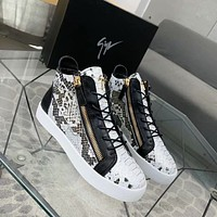 Giuseppe Zanotti GZ Fashion Men Women's Casual Running Sport Shoes Sneakers Slipper Sandals High Heels Shoes