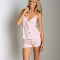 Juicy Couture Modal With Lace Camisole Pedal Pink 9JMS1298 at Largo Drive Underwear & Swimwear