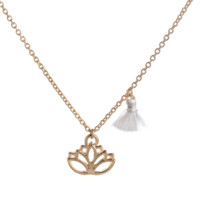 Fashion personality Lotus pendant necklace,Cute Tassel Necklace, a perfect gift !