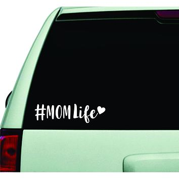 Hashtag Mom Life V2 Wall Decal Car Truck Window Windshield JDM Sticker Vinyl Lettering Quote Boy Girl Funny Trendy Family Baby Kids