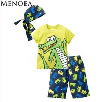 Croc Boy Clothing Set for Summer
