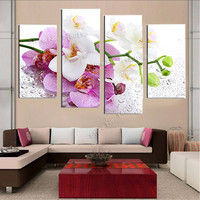 Diamond embroidery flower glory Home decoration triptych picture 5 pieces Craft patchwork Rhinestones painting E6 FMMP-2004