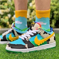 Ben & Jerry's x Nike SB Dunk Low low-top colorblock canvas sneakers shoes