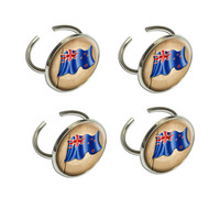 Vintage New Zealand Flag Napkin Ring Set