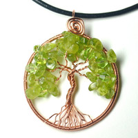 Wire Wrapped Tree of Life Pendant Copper and by LoneWolfBoutique