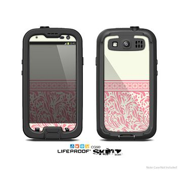 The Pink & Tan Polka Dot Pattern V1 Skin For The Samsung Galaxy S3 LifeProof Case