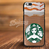 ariel Starbucks disney For iPhone 4/s, 5/s, 5c,6, 6+ and Samsung S3, S4, S5 Case Plastic or Rubber
