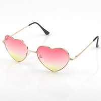 Cute peach heart sunglasses