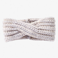 MARLED KNIT TWISTED HEAD WRAP - GRAY from EXPRESS