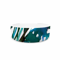 "Ebi Emporium ""Petal For Your Thoughts Teal"" Turquoise Green Pet Bowl"