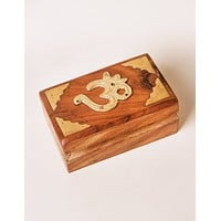 Wooden Om Treasure Box