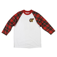 Odd Future Official Store | PLAID DONUT RAGLAN RED