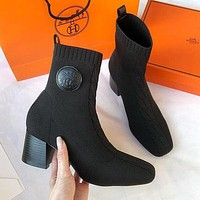 Hermes Woolen socks and boots Shoes