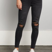 Black Washed & Distressed Jegging | Jeggings | rue21
