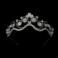 tiara crown with wire, princess tiaras for wedding , crystal tiara for order inlaid with tear drops SWAROVSKI Crystals and rhinestones,