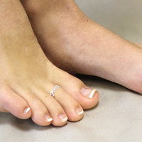silver Heart toe ring Adjustable wedding accessories toe ring jewelry accessories wedding bridesmaids gifts By hot2own