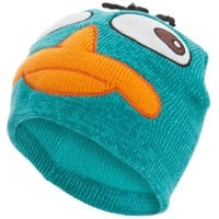 Phineas And Ferb - Mens Phineas And Ferb - Perry Crazy Eyes Beanie Blue