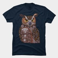 Great Horned Owl T Shirt By Myartlovepassion Design By Humans