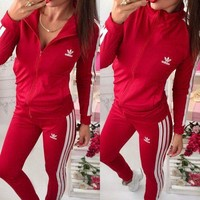 ADIDAS Sport Cardigan Jacket Coat Pants Trousers Set Two-Piece