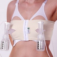 PumpEase Organic® Cotton Hands-Free Pumping Bra in Natural