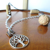 Mens leather tree of life necklace, Steampunk, Rocker , Rustic mens neck accessorie, Tree pendant, Mens everyday jewelry, Gift for him