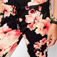 Only Floral Scuba Trousers