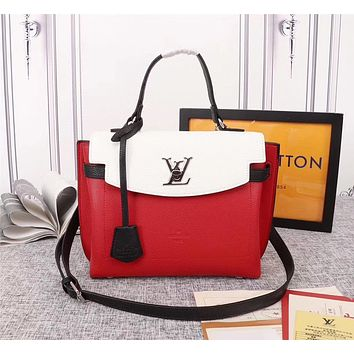 LV Louis Vuitton LEATHER LOCKME EVER HANDBAG SHOULDER BAG