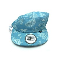 New Era x Secret Society Light Blue Flag 5 Panel Camper Strapback Hat Light Blue