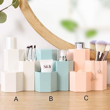 1pc Solid Cosmetic Storage Box
