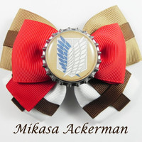Mikasa Ackerman Hair Bow ( Attack on Titan )