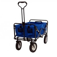 Mac Sports Collapsible Folding Outdoor Utility Wagon, Blue