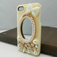iPhone 4 case Mirror  3D iphone case Mirror case Iphone4 case iphone4s case  iphone 5 cell phone cases pearl phone case holiday gift