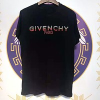 Givenchy New fashion letter print couple top t-shirt Black