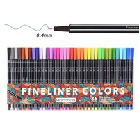 36colors Fine Liner Pen Set Micron Sketch Marker Colored 0.4mm Coloring for Manga Art School Needle Drawing Sketch Marker Comics