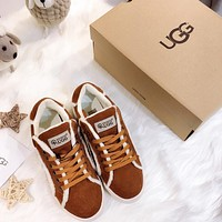UGG Women's single - shoe walking series of excessive hair leisure sports shoes
