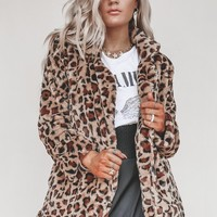 Before He Cheats Leopard Faux Fur Coat