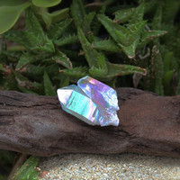 Angel Aura Quartz Cluster // Wiccan Altar Supplies // Opal Quartz Crystal Cluster Specimen // Wicca Altar Supply // Rainbow Aura Quartz AQ14