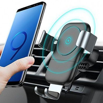 TORRAS Wireless Car Charger Mount, Auto-clamping Qi Fast Charging Wireless Charger Car Air Vent Cell Phone Holder Cradle for Samsung Galaxy S9/S9+ Plus/S8/S8+, iPhone X/8/8 Plus and More