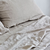 Linen Duvet Cover in Dove Grey by IN BED