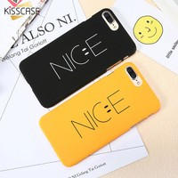 KISSCASE Phone Cases For iPhone 8 7 6 6s Case Plastic Cover For iPhone 6 6s 7 8 Plus Case Plastic Ultra Thin Smile Nice Case
