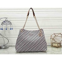 Dior Hot Selling Ladies'Printed Coloured Single Shoulder Bag Shopping Bag Brown