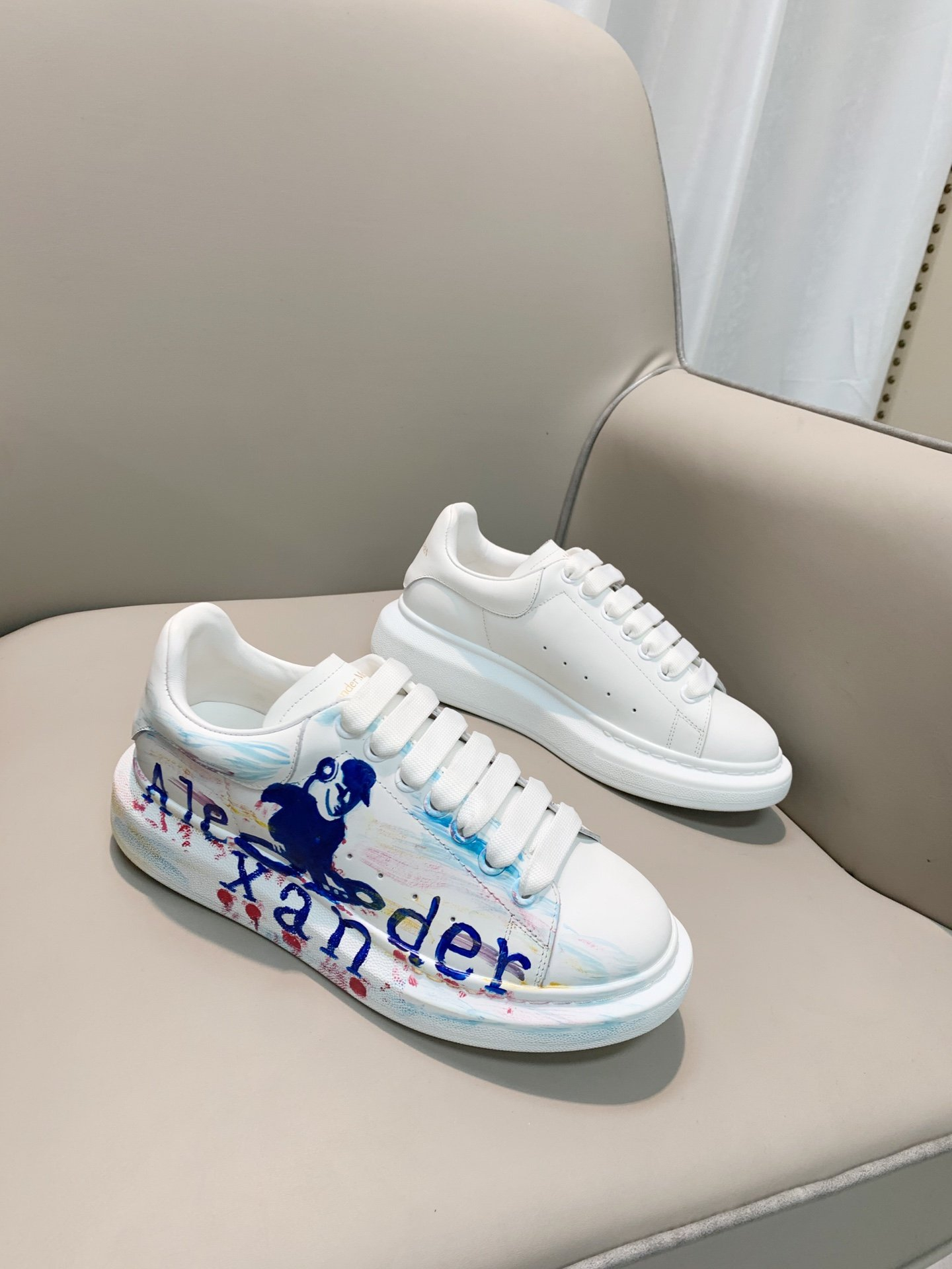 Image of Alexander McQueen2021 Woman's Men's 2020 New Fashion Casual Shoes Sneaker Sport Running Shoes06040em