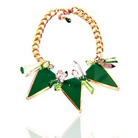 Spiked Triangle Chain Necklace