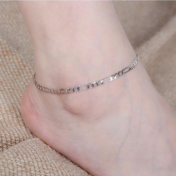 Cute Sexy New Arrival Jewelry Shiny Gift Accessory Stylish Simple Design Metal Chain Ladies Anklet [6768772423]