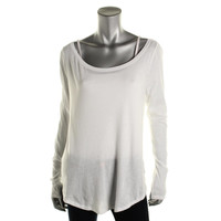 Polo Ralph Lauren Womens Cotton Solid Pullover Top