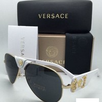 White Versace Men Women Casual Summer Sun Shades Eyeglasses Glasses Sunglasses