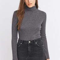 Urban Outfitters Long Sleeve Ribbed Turtleneck Top - Urban Outfitters